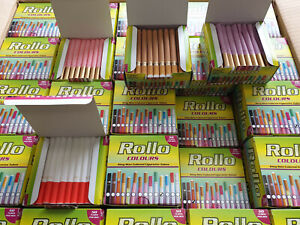 CLEARANCE 1500 *HOT COLORED* KING SIZE ROLLO TUBES CIGARRETTE FILTER TUBE TIPS