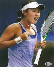 Peng Shuai Tennis Signed Auto 8x10 PHOTO Beckett BAS COA