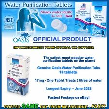 Water purification tablets Oasis 10pk cheapest tabs hiking camping prepper