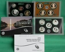 2015 S US Mint 90% SILVER Proof Set 14 Coins Complete with Box and COA