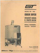 Gilmore & Tatge Grain Dryer - Model 580 Operators Manual with Parts List