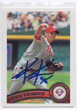 KYLE KENDRICKS Signed Autograph 2011 Topps Baseball Card Auto Phillies #341 COA