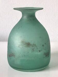 VINTAGE CENEDESE MODERN ART SCAVO MURANO GLASS VASE -SIGNED-  ITALIAN 1960s