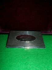 pocket box marked, metal silver color, for card credit ID card holder