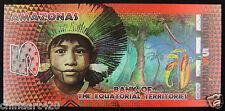 Equatorial Territories Polymer Plastic Banknote 5 Francs 2014 UNC, AMAZONAS