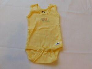 Gerber Baby Girl's Sleeveless One Piece Bodysuit Size 0-3 Months Yellow GUC