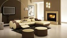 Designer Leather Corner Sofa Interior Couch Set