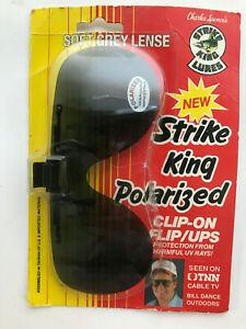 Vintage Strike King Soft Grey Lens Polarized Clip-On Sunglasses New In Package