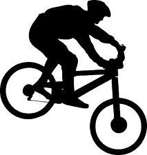 "Mountain Biking Vinyl Decal ""Sticker"" For Car or Truck Windows, Laptops, etc"