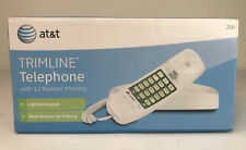 Vintage ATT 210 CORDED TRIMLINE PHONE 3 EMERGENCY and 10-NUMBER MEMORY BUTTONS