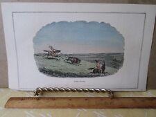 Vintage Print,BUFFALO HUNTING,Colored