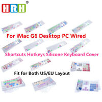 English Shortcuts Keyboard cover For Apple iMac G6 with Numeric Keypad A1243