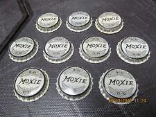 MOXIE SODA SET OF 10 BOTTLE CAPS 1930's CORK LINED NEW OLD STOCK THOMPSONVILLE