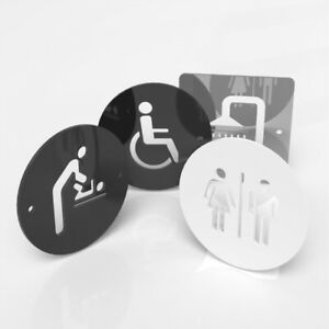 Toilet Sign Male, Female, Disabled, Gents, Ladies, Baby Change, Shower Door Sign