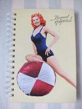 *Good Girl Pin Up Art*Spiral Notebook/Journal*Bernard of Hollywood*Yellow*New