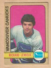 HOCKEY CARD NHL 1972-73 RICHARD LEMIEUX ROOKIE CARD VANCOUVER CANUCKS  OPC  #202