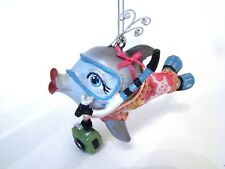 Katherine's Collection Kissing Fish  - DOLPHIN Fish with Blue Snorkel Mask