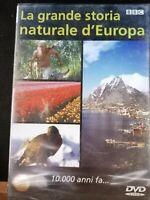 DVD film documentario LA GRANDE STORIA NATURALE D'EUROPA 10000 anni fa BBC