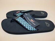 NWT $45 VINEYARD VINES Size 13 Men's Navy Whale Web Flip Flop Sandal