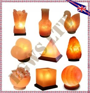 Himalayan Crystal Pink Salt Lamp Healing Ionizing Natural Heart Bowl Ball Shape