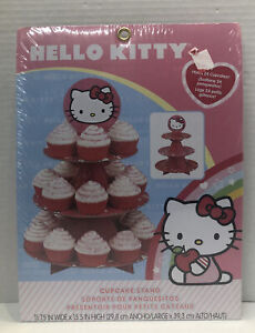Wilton Hello Kitty Cupcake Stand Party Decoration Birthday New Sealed
