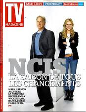 "TV MAGAZINE N°21786 24 AUGUST 2014 ""NCIS"" WICKERSHAW & HARMON/FOSSEY/""BLACKLIST"""