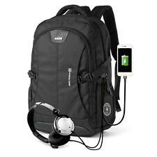 """Backpack Waterproof USB Charging Port up to 17.3"""" Laptop"""