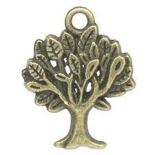 Paket 20 x Steampunk Bronze Tibetanische 21mm Lebensbaum Charme/Anhänger ZX05330