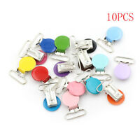10x Mixed Color Infant Baby Metal Clips Pacifier Holders Alloy Suspender Hook CB