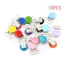 10x Mixed Color Infant Baby Metal Clips Pacifier Holders Alloy Suspender Hook  O