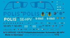 Peddinghaus 2578 1/72 EC 135 P2 Police Helicopter Sweden SE-HPV