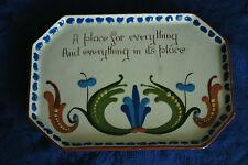 Arts & Crafts Longpark Pottery Tray - Devon/Torquay Wear      #2001