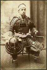 Japanese Warrior in Armour - Samurai ? 1880's, Reprint Photo 7x5 inch