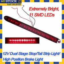 12V High Position Mount Stop Tail LED RED CABIN STRIP LAMP Truck Trailer