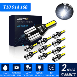6000K White 90LM T10 W5W 194 168 Wedge Car License Plate Dome Map LED Light Bulb