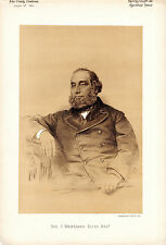 SIR JOHN WHITTAKER ELLIS - LORD MAYOR OF LONDON - SEPIA PORTRAIT (1882)