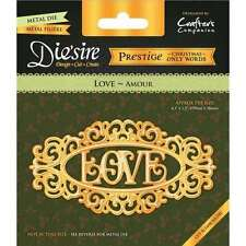 Crafters Companion Only Words Christmas Prestige Die - Love Free P & P