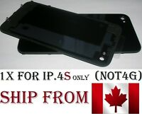 Back Plate Battery Housing Cover Glass Replacement for iPhone 4S BLACK iphone4S