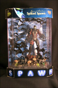 """TODD McFARLANE TOYS SPIKED SPAWN  6"""" FIGURE...NEW IN FISH TANK DISPLAY CASE!"""