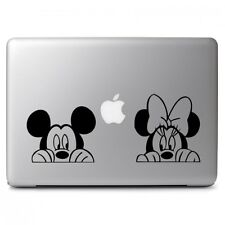 Mickey Minnie Mouse Peeking for Macbook Air Pro Laptop Car Vinyl Decal Sticker