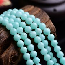 8mm Natural Blue Amazonite Round Gemstone Loose Beads 15'' Strand AAA