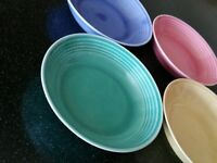 4 CRONIN ZEPHYR RAINBOW  BERRY BOWLS FRUIT CUPS BLUE YELLOW RED GREEN
