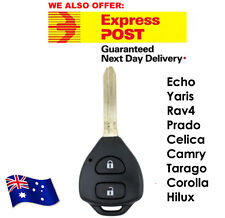 Toyota 2 Button Remote Key Shell Rav4 Corolla Camry Prado Echo Hilux Yaris