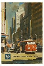VOLKSWAGEN delivers the goods for less VINTAGE ad poster CLASSIC 24X36 hot