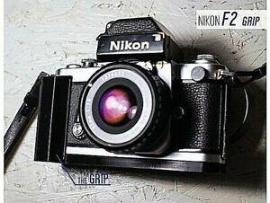 [FREE SHIPPING] - NIKON F2 F 2 SMALL GRIP small grip custom in colour BLACK