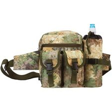 Outdoor Camo Gear Waist Fanny Pack, Mens Tactical Hunt Camp Hiking Bottle Bag