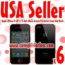 6x Anti Glare Full Body Screen Protector Apple iPhone 4