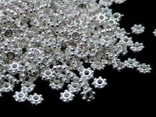 100 x 5mm Silver Plated Daisy Flowers Spacer Beads Jewellery FREE UK P+P A126