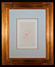 Orig 1898 Etching Portrait of a Man by TOULOUSE-LAUTREC
