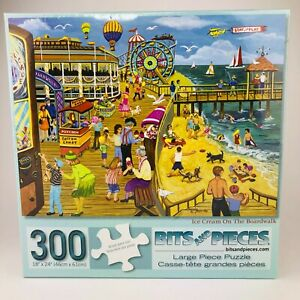 """Ice Cream on the Boardwalk 300 Piece Jigsaw Puzzle Bits and Pieces 18"""" x 24"""" New"""